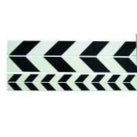 Warning strip pointing right black