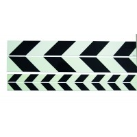 Warning strip pointing left black