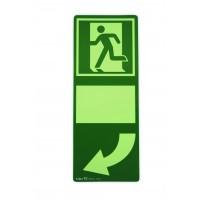 Green shield luminated for doorhandles turn left, HI150
