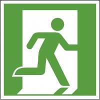 Emergency exit sign right