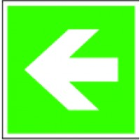 Emergency exit directional arrow straight