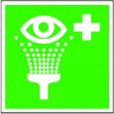 Eye rinse equipment sign ISO7010