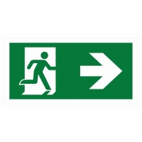 Emergency exit sign with arrow right ISO7010