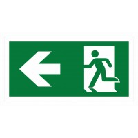 Emergency exit sign with arrow left ISO7010