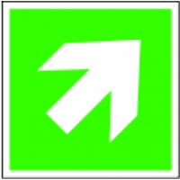 Indication of direction aslant sign