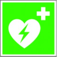 Automat. ext. defibrillator (AED) sign