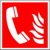 Fire alarm telephone sign ISO7010