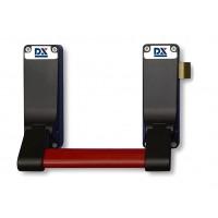 Panic exit hardware DX 296-series, single point locking, basis black, push bar red