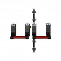 Panic exit hardware DX 285-series, three point locking, basis black, push bar red