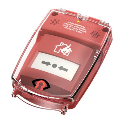 GfS e-Cover® B with alarm, surface, red (135x135mm)