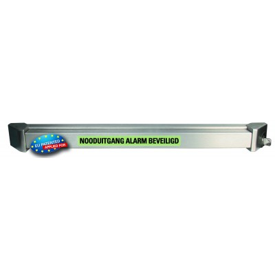 GfS e-Bar mechatronic with alarm, led lights and integrated emergency exit switch, 970mm