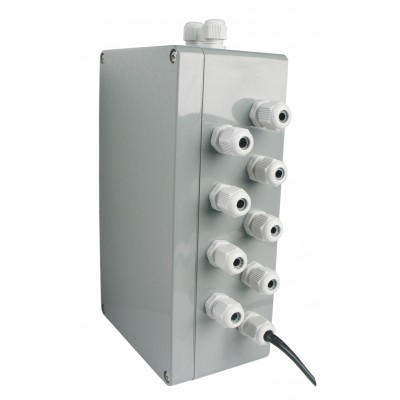 Connection box for maximum 8 GfS Safetyproducts connect with 1,5m cable direct to display panel