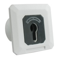 Universal Key switch flush mount in aluminium with 1 contact