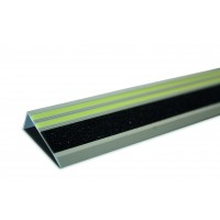 Stair nosing with anti-slip strip
