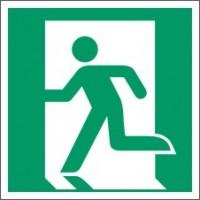 Emergency exit sign left FLOOR