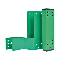 GfS Combination spacer mounting set 80mm, Din left, green RAL 6029