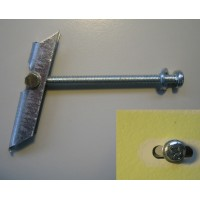 Tilting dowel for mounting on gratings