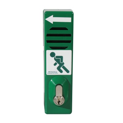 GfS Exit Control with profile cylinder, green