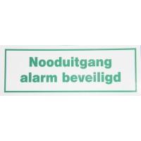 Tekst sign Nooduitgang Alarm beveiligd