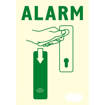 "Sticker for GfS Exit Control 179 ""Alarm"""