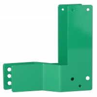 GfS Exit Control 1125 bent steel mounting plate, 30mm, Din left, green