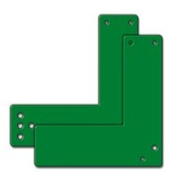 GfS Exit Control 179 Steel mounting plate for glass framed doors, 17,5cm green
