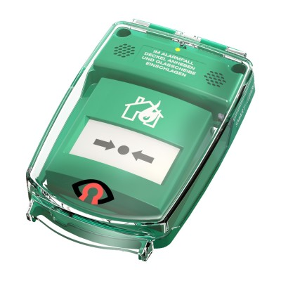 GfS e-Cover® A with alarm, surface, green (90x90mm)