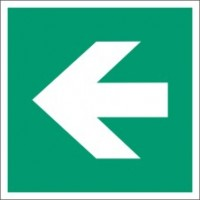 Emergency exit sign left/right to glue with base profile