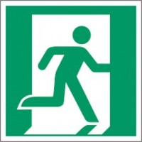 Escape route signs for wall marking system (straight)